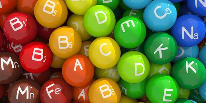 Разноцветные шарики витаминов и микроэлементов