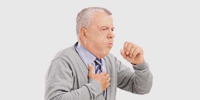 Симптом воспаления легких - изнуряющий кашель