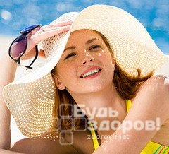 Головной убор защищает от солнечного удара