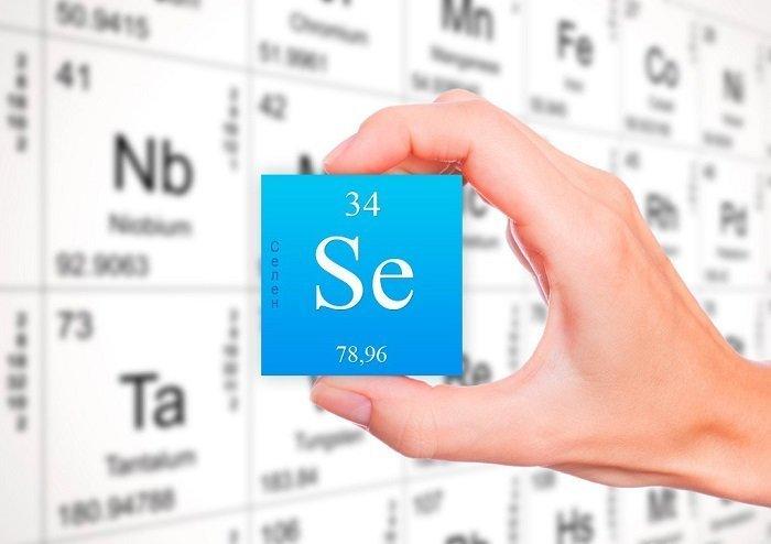 На фото химически элемент - Селен