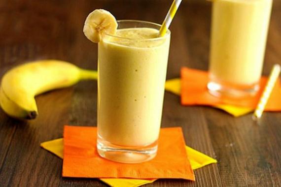 Полезные напитки с бананом
