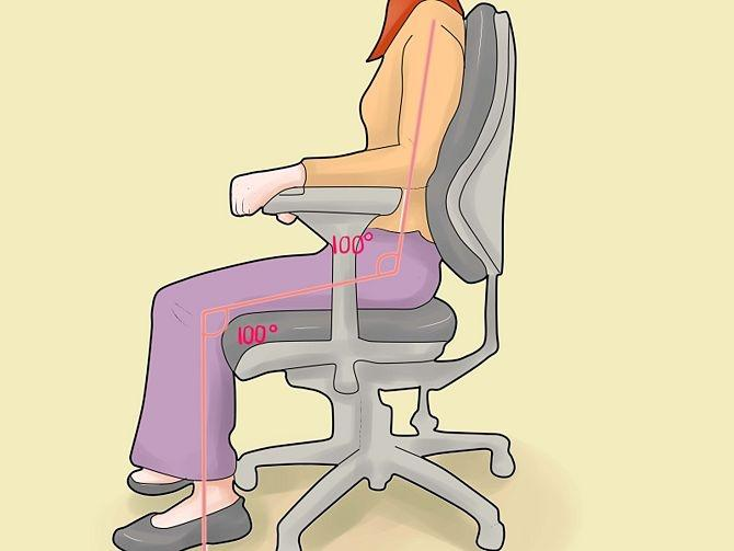 Правильная посадка на офисном кресле