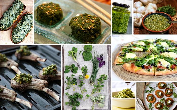 На фото - блюда из полезных сорняков, lady.tsn.ua