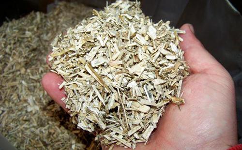 Горсточка заготовленной коры