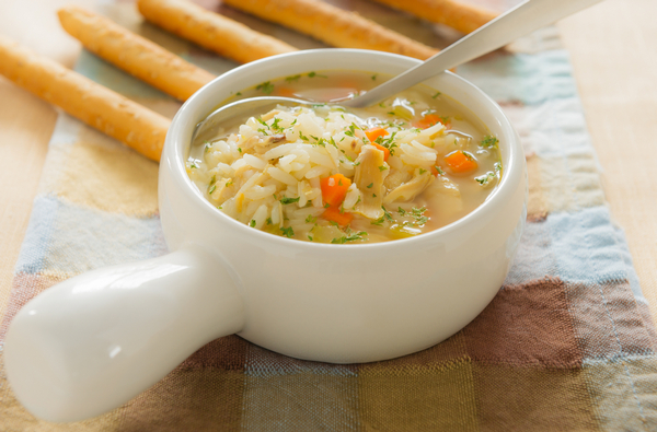 Овощной рисовый суп