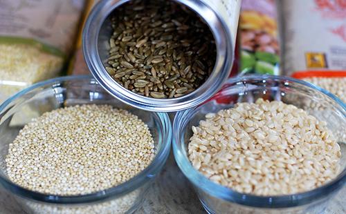 Три сорта риса для сравнения