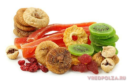 Сухофрукты, цукаты и мёд предпочтительнее промышленных заменителей сладкого