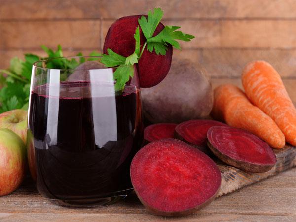 Свекольно-морковно-яблочный сок
