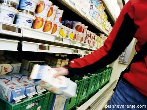 Пробиотики на полках супермаркета