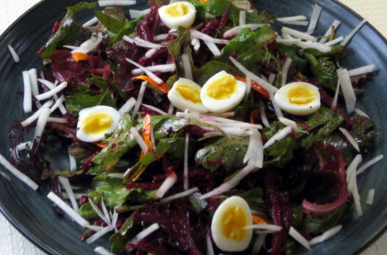 Салат с чёрной редькой