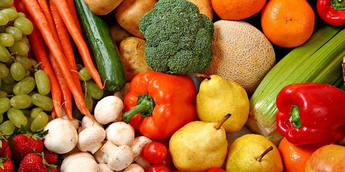 Фрукты, грибы и овощи