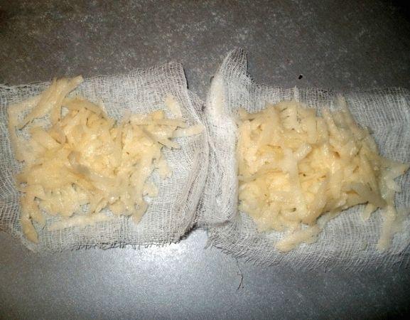 Компресс из тертого картофеля