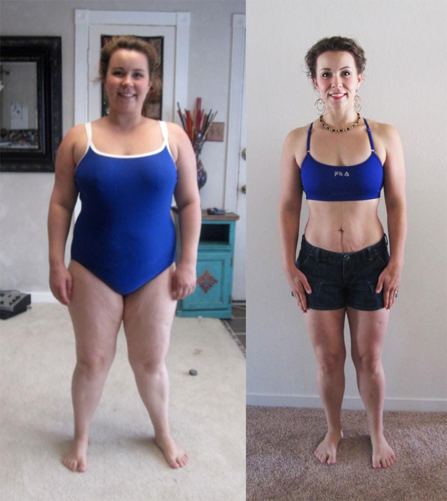 Девушка до и после похудения на травах