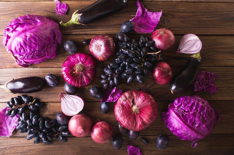 фиолетовые продукты
