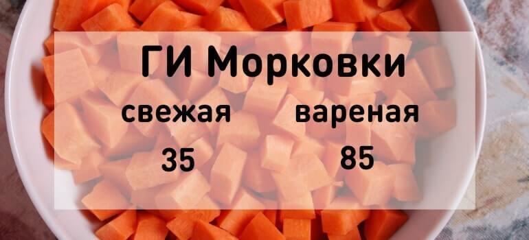 Гликемический индекс моркови