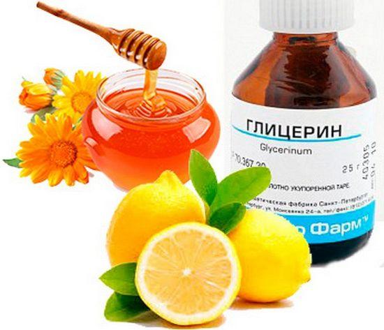 Глицин, мед, лимон