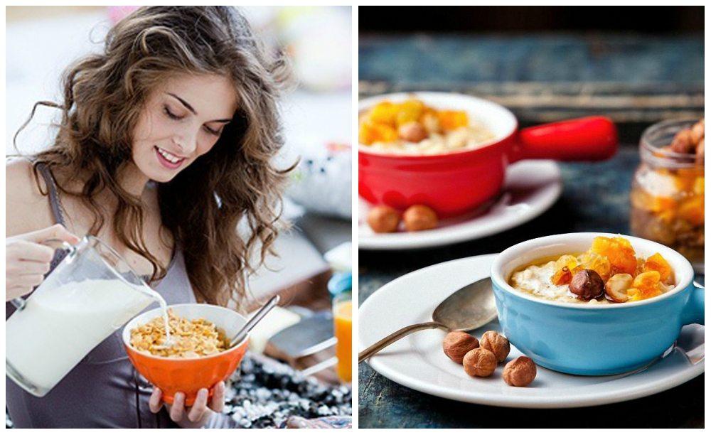 девушка готовит завтрак