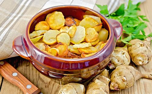 Картофель с топинамбуром
