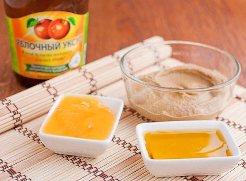мед, порошок горчицы