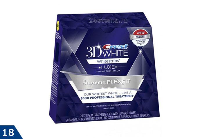 Один из вариантов отбеливающих полосок Crest 3D White