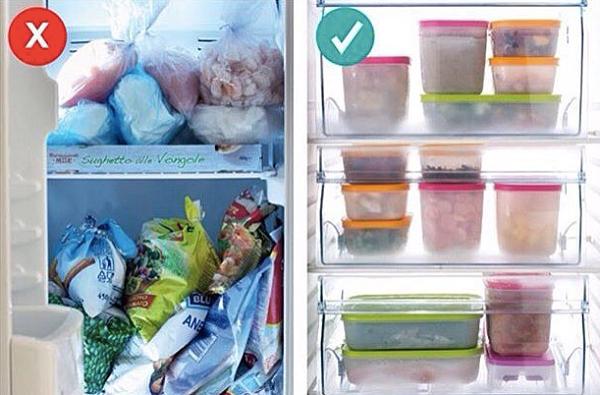 Хранение продуктов в морозилк